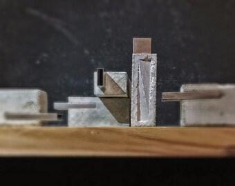 Concrete minimalistic USB-flash memory card 16g, flash drive, USB stick