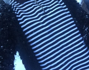 90's Style Black and White Stripe Shirt