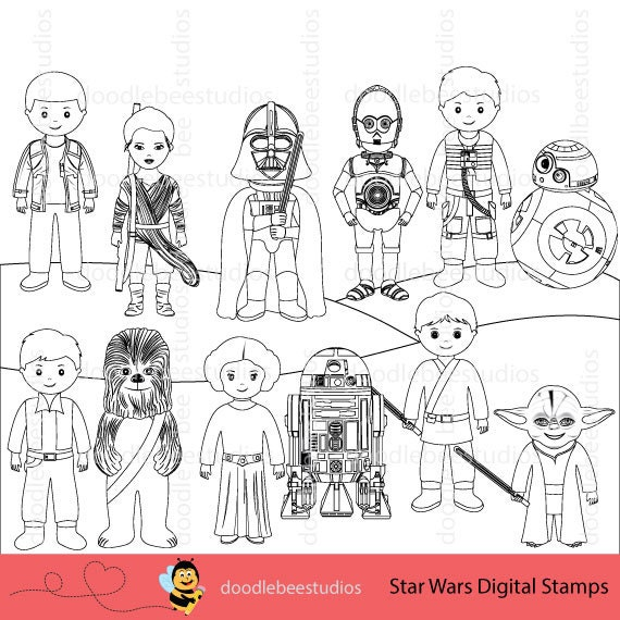 star wars character coloring pages - photo#15