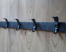Hand forged hander with 5 hooks, Hand made product, Hand forged