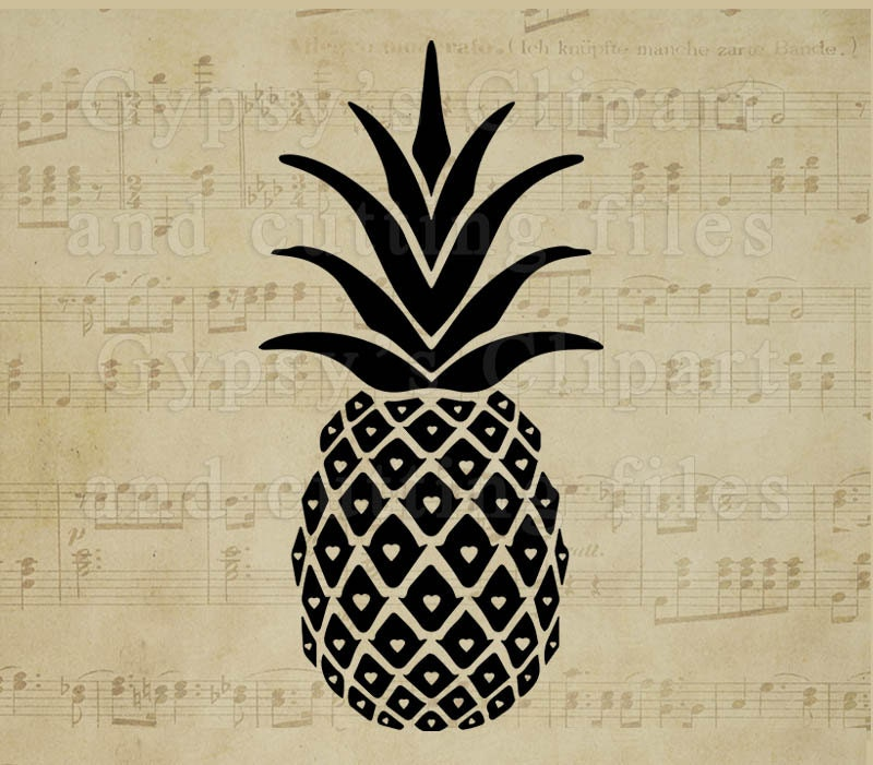 pineapple svg pineapple monogram pineapple split by gypsysclipart