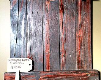 Mahogany Rustic Frame