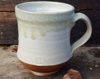 Coffee Cup Coffee Mug Hand Made Ceramic Rustic White