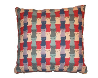 Pillow with stuffing Anchorage texture with Cats