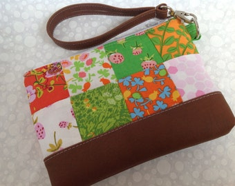 Briar Rose Heather Ross with Faux Leather Ready to Ship
