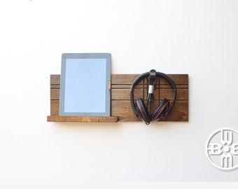 Ipad wall mount etsy - Wall mount headphone holder ...