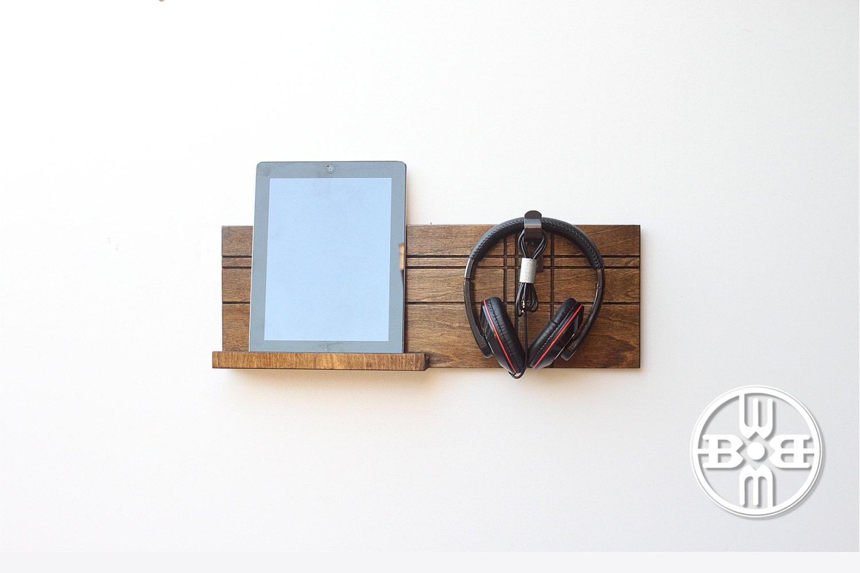 Headphone stand dorm decor ipad wall mount headphone hook - Wall mount headphone holder ...
