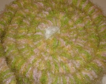 Spring Scarf -Easter Scarf - Pastel Scarf - Feminine Scarf - Fluffy Soft Scarf - Lightweight - Stickweave - OOAK - Stick Woven