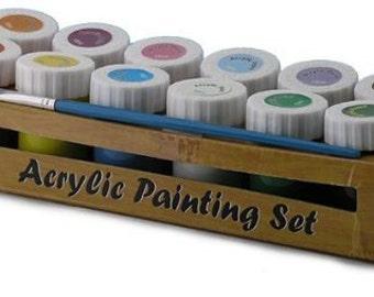 Acrylic paint set - 12x 18ml