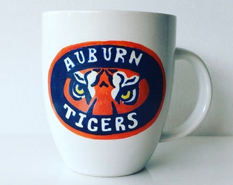 Custom Hand Painted Auburn Mug