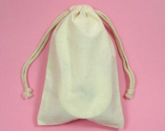 24 Muslin Bags with Drawstrings, 3x4, 4x6, 5x8, 6x9, 8x12, Jewelry Bags, Gift Pouch, Party Favor Bags, Merchandise Pouches, Muslin Pouch