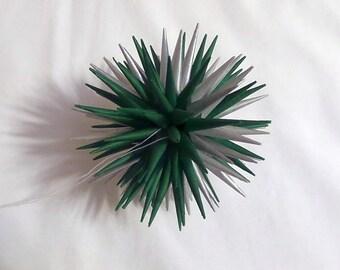 Silver and Green Handmade Polish Star Tissue Ornament