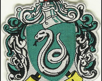 SLYTHERIN HARRY POTTER Hogwarts Slytherin Patch High Quality Iron/Sew On Us Seller Free Shipping