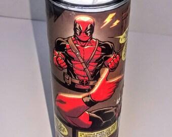Deadpool Pillar Candle / Geek Gift