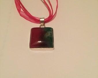 Multicolor Botswana agate pendant