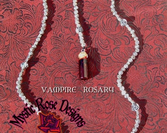 Vampire Rosary with Blood Vial
