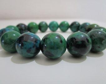 Chrisocolla bracelet, Women stone bracelet,Natural stone bracelet, Gift for women, Beaded bracelet, Jewelry, Womens stone jewelry, Gift