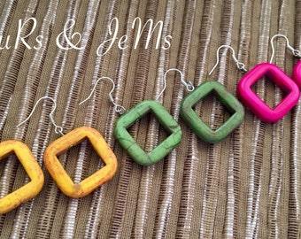 Colourfull chaoliti earrings