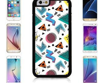 Cover Case for Apple iPhone 7 7 Plus 6 6S Plus Samsung Galaxy S7 Edge S6 Plus Note 5 6 7 8 9 10 att sprint verizon Retro Memphis Pattern