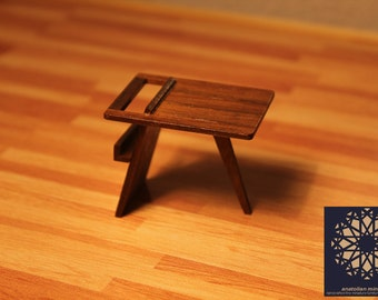 Dollhouse - Miniature - Mid Century Modern Side Table - 1/12 scale