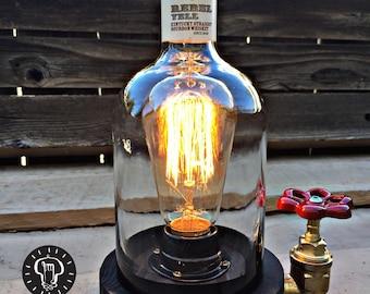 "Rustic Desk lamp ""Rebel"", Reclaimed wood light, Industrail table lamp"