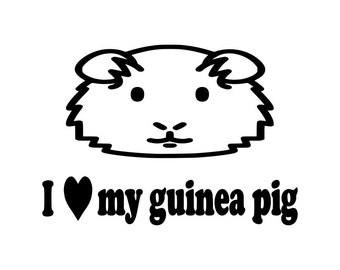 Cute I Heart My Guinea Pig pet decal for macbooks, laptops, cars, trucks, phones, home decoration 0191