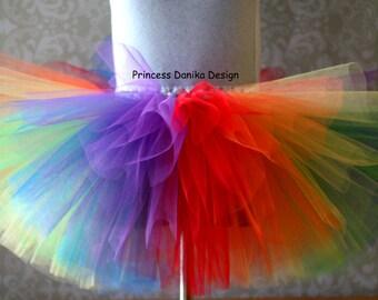 Circus Tutu, Clown Tutu, Mulitcolor Tutu, Rainbow Tutu, Infant/Toddler Tutu Girls/Teen Tutu, Adult Tutu