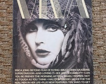 Viva, April 1976 - feat. Erica Jong interview, Jackie O caricature fashion spread