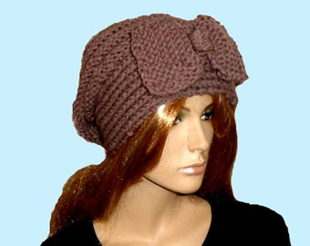 SLOUCH BEANIE .LADIES Knitted Hat.