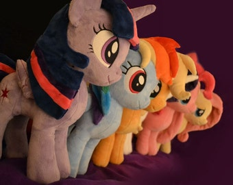 "My Little Pony Plush Made To Order 16"" Custom Handmade Plushie Mane 6 Derpy MLP"