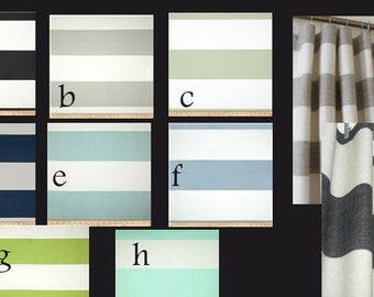 Modern Horizontal Stripe Cabana Curtain Panels  Pairs Lined