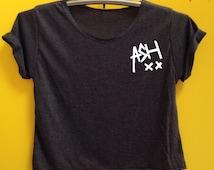 Ashton Irwin shirt ASH shirt crop shirt Tshirt Woman'Clothing size S M L