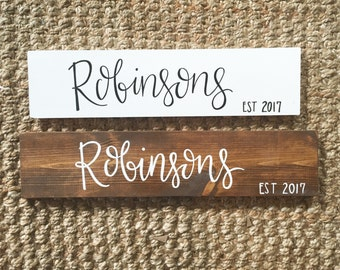 Last Name Sign - Wood Sign | Custom Wood Sign | Rustic Wood Sign | Wood Sign | Last Name | Rustic Decor | Wall Art | Hand Painted