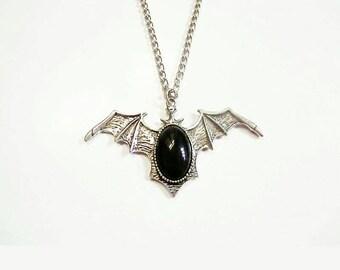 Large bat necklace