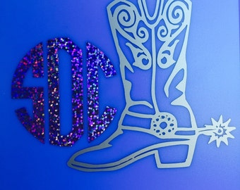 Monogrammed Cowgirl Boot