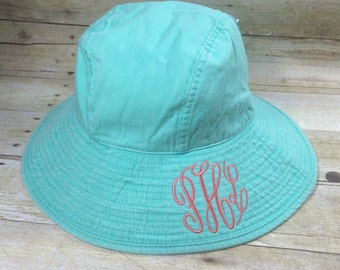 Monogram Beach Hat - Monogram Sun Hat - Monogram Floppy Hat