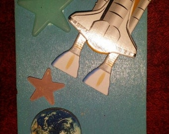 Shoot For The Stars Magnet with Glow In The Dark Stars