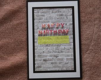 Happy Birthday Brick Wall Greeting Card