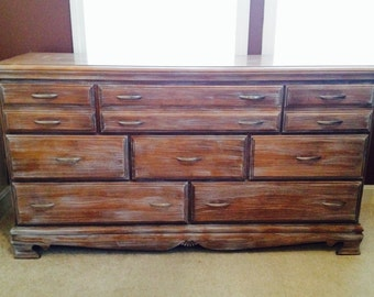 Large weathered oak dresser