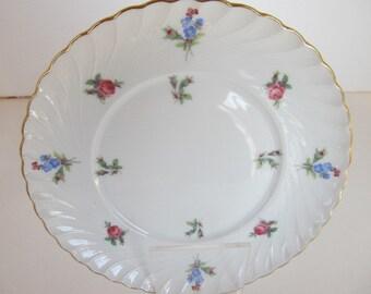 "Royal Tettau 6"" Plate with Rosebuds"