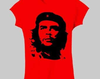 Che Guevara revolutionary Printed Women's T Shirt RLW612 hand screen printed in Australia