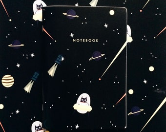 Cat Space Notebook A5