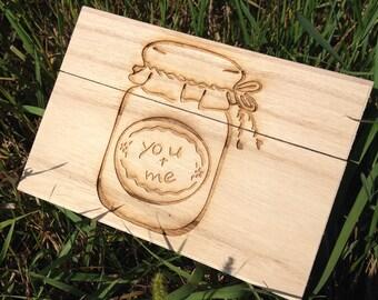 Mason Jar Recipe Box,Recipe Box,Wood Recipe Box,Shower Gift, Birthday Gift,Christmas Gift, Housewarming Gift, Anniversary Gift