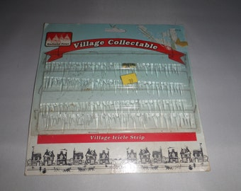 Vintage Enchanted Forest Village Icicles!