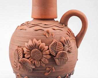 ceramic jug - ceramic pitcher - Rustic home decor - kitchen decor - ethnic dishes [CC-28]
