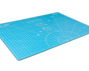 """MyCrafts: Self Healing Cutting Mat (A3 - 45 X 30 CM   12"""" x 18""""). Baby Blue, 5 Layers / 3mm, Double-sided with Inch & CM"""