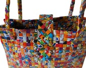 Medium Orange Tote made from Recycled juice boxes