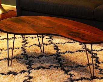 Modern Coffee Table - Hairpin legs - Kidney Bean table