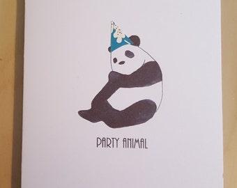 Party Panda Birthday Card