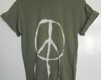 Tie Dye T-Shirt acid wash T-shirt hipster Retro 80s vintage 90s peace symbol men women dip dye grunge Galaxy Indie boho unisex top